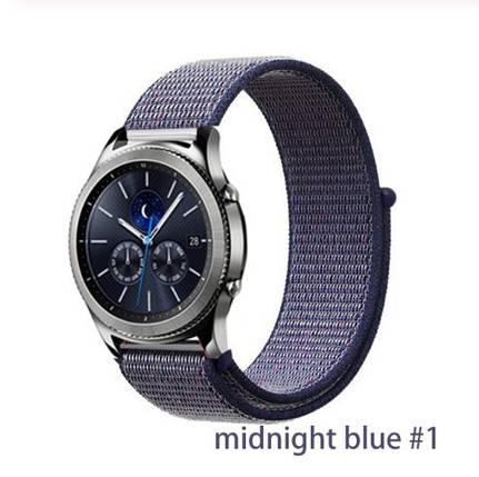 Браслет ремінець 20мм нейлоновий Midnight Blue ремешок для amazfit bip gts та ін, фото 2