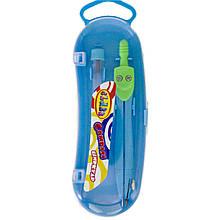 Циркуль в пласт.пеналі з запас.гриф.12,2 см. метав.зел-блакит 9023-04 CLASS