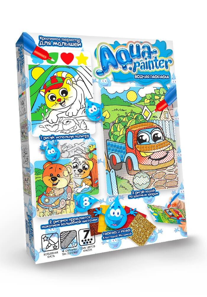Набір для творчості Danko Toys Водна розфарбування Aqua painter (AQP-01-04)