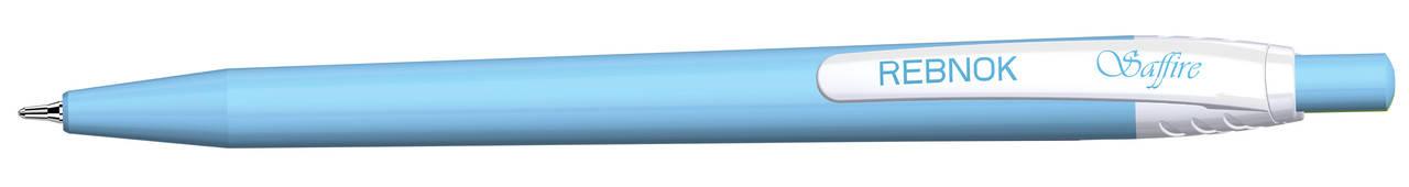 Кулькова ручка Rebnok, Saffire, 0.7 мм, автомат, асорті, синій, фото 3