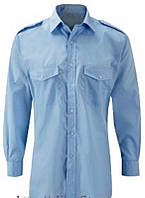 Рубашка форменная мужская. Голубая сорочка