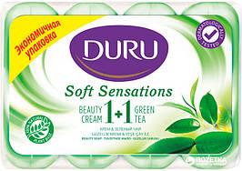 Мило туалетне Duru, Soft Sensations, 1+1, зелений чай 4*90 г