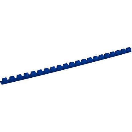 Пружина пластикова d 22 мм, синя, (1уп./50 шт), фото 2