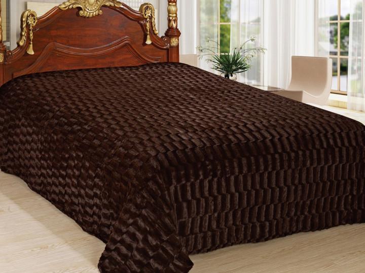 Покривало Норка Травичка двостороннє Шоколад покривало на ліжко