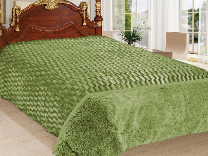 Покривало Норка Травичка двостороннє Оливкова покривало на ліжко