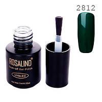 Гель-лак для нігтів манікюру 7мл Розалінда, шелак, 2812 зелений смарагд 2000-05360