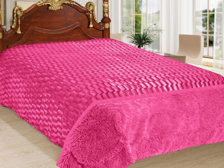 Покрывало Норка Травка двухстороннее Розовое покрывало на кровать