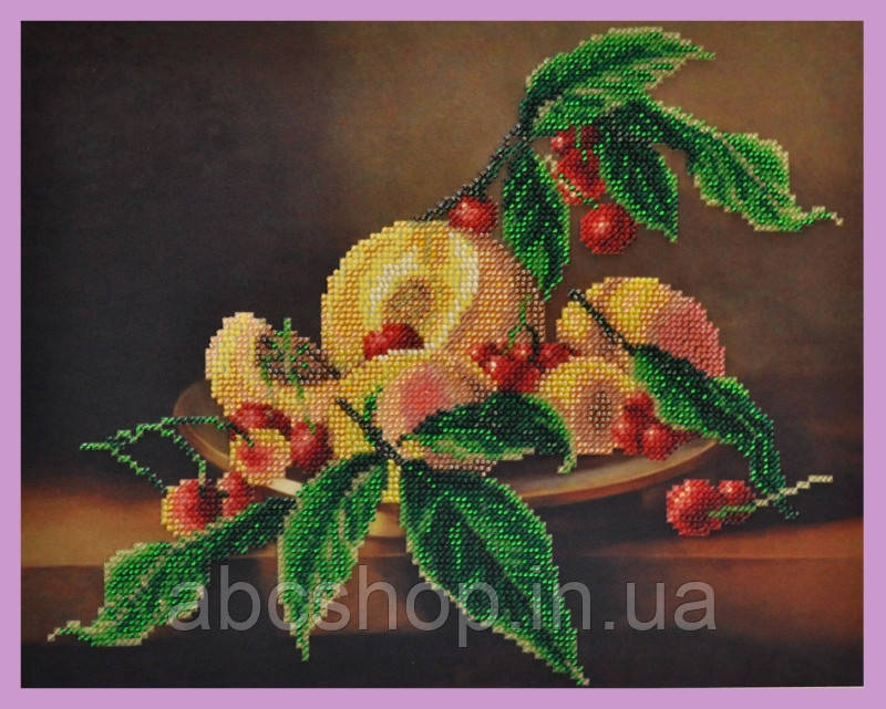 Набор для вышивки бисером Натюрморт с вишней