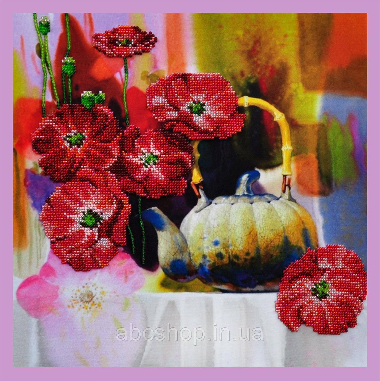 Набор для вышивки бисером Цветочная акварель - 1
