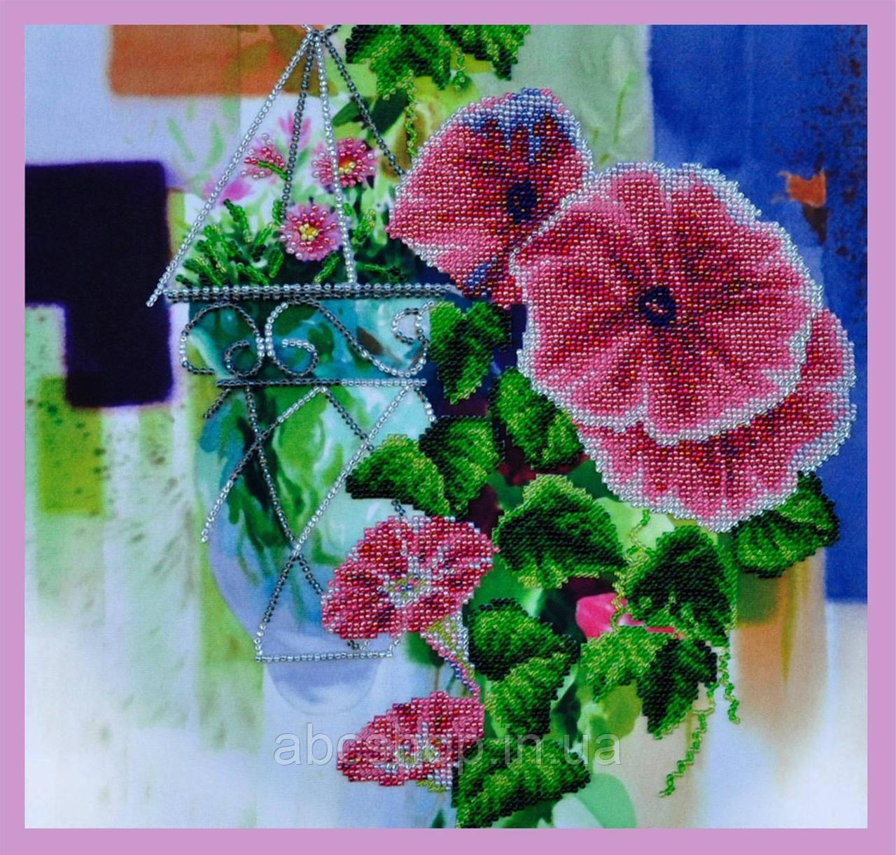 Набор для вышивки бисером Цветочная акварель -2
