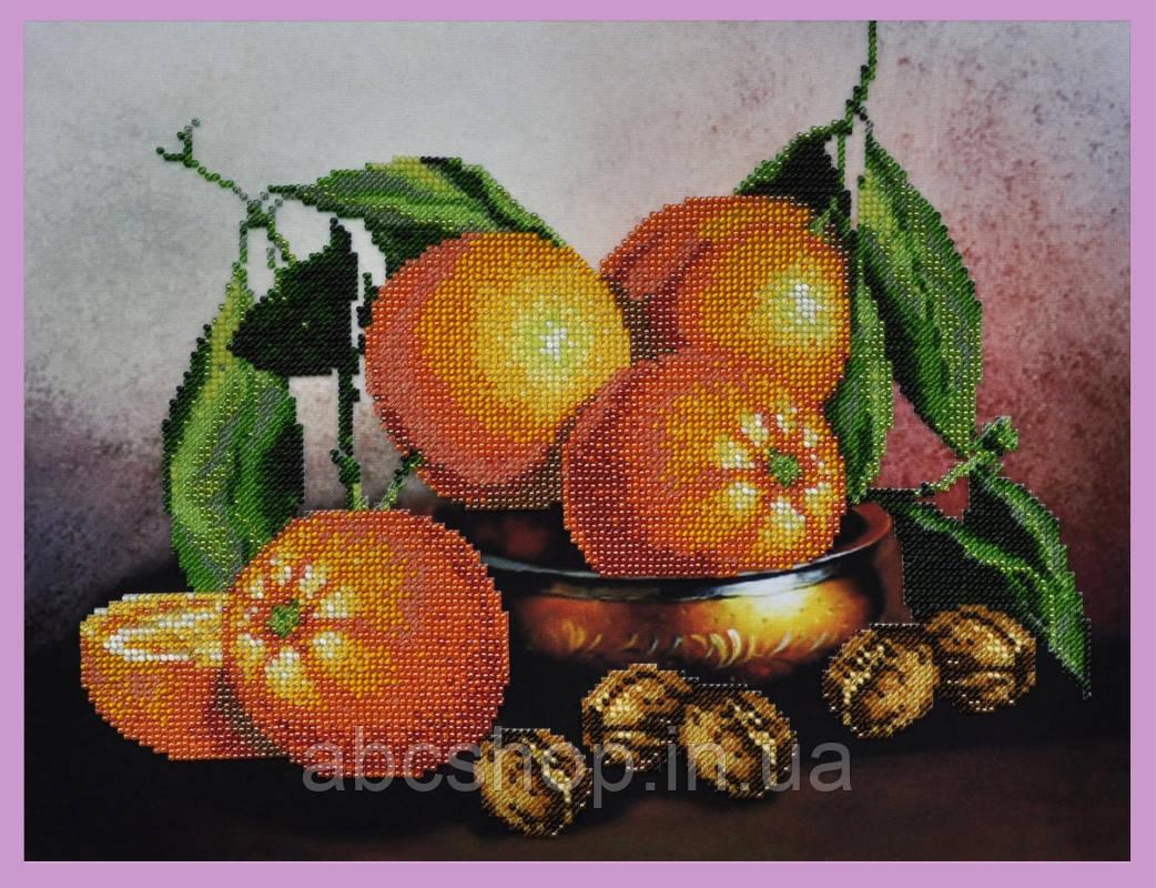 Набор для вышивки бисером Натюрморт с апельсинами