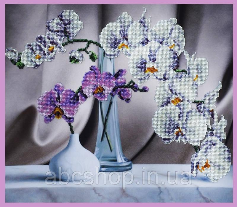 Набор для вышивки бисером Натюрморт с орхидеями