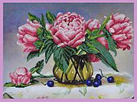 Набор для вышивки бисером Натюрморт с пионами