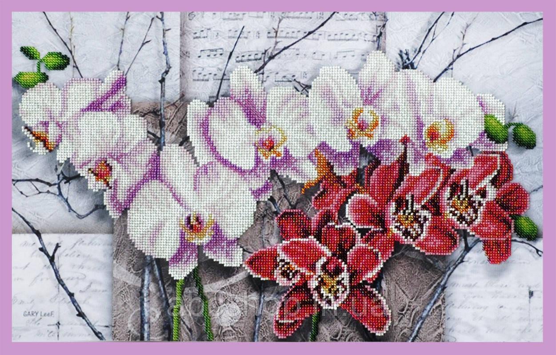 Набор для вышивки бисером Симфония орхидей