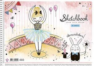 Альбом для малювання А4, Школярик Star 20 аркушiв, УФ лак вибірковий, фото 3