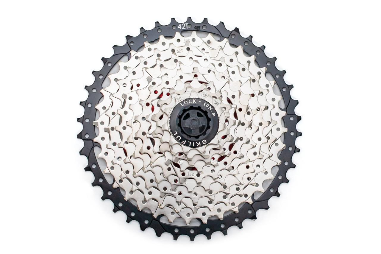 Кассета на велосипед SkilFul CS-G550 10 скоростей 11-42T c ал пауком, никелированная
