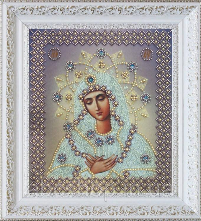 """Набор для вышивки бисером Икона """"Умиление"""" (серебро)"""