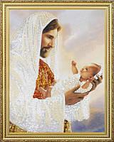 Набор для вышивки бисером Иисус с младенцем