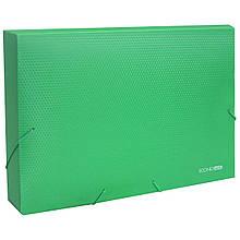 Папка-бокс пл.А4 20мм на гумк.,зелена