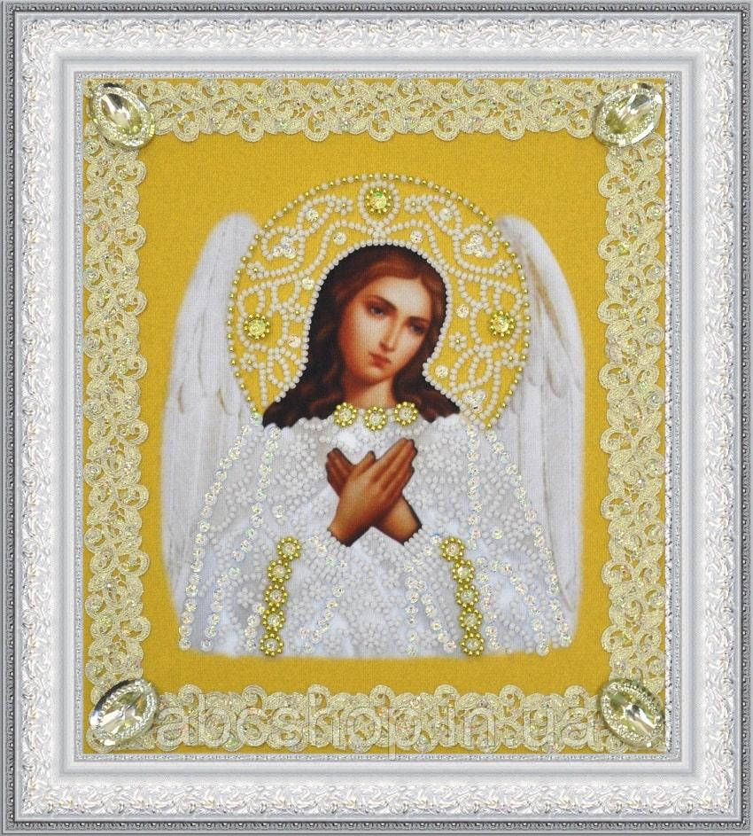 Набор для вышивки бисером Икона Ангела Хранителя (золото) ажур