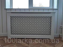 Декоративный экран (короб) на батарею отопления деревянный (ясень) R38-K90 780х900х170 мм.