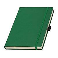Записная книжка Туксон Ivory Lineкремовый блок в линейку, кожзам, зеленая