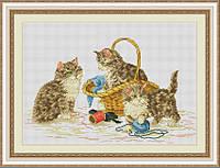 Набор для вышивки крестом Веселые котята