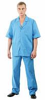 Куртка + брюки (синий) для работников сферы здравоохранения,Костюм мужской медицинский,Костюм хирурга