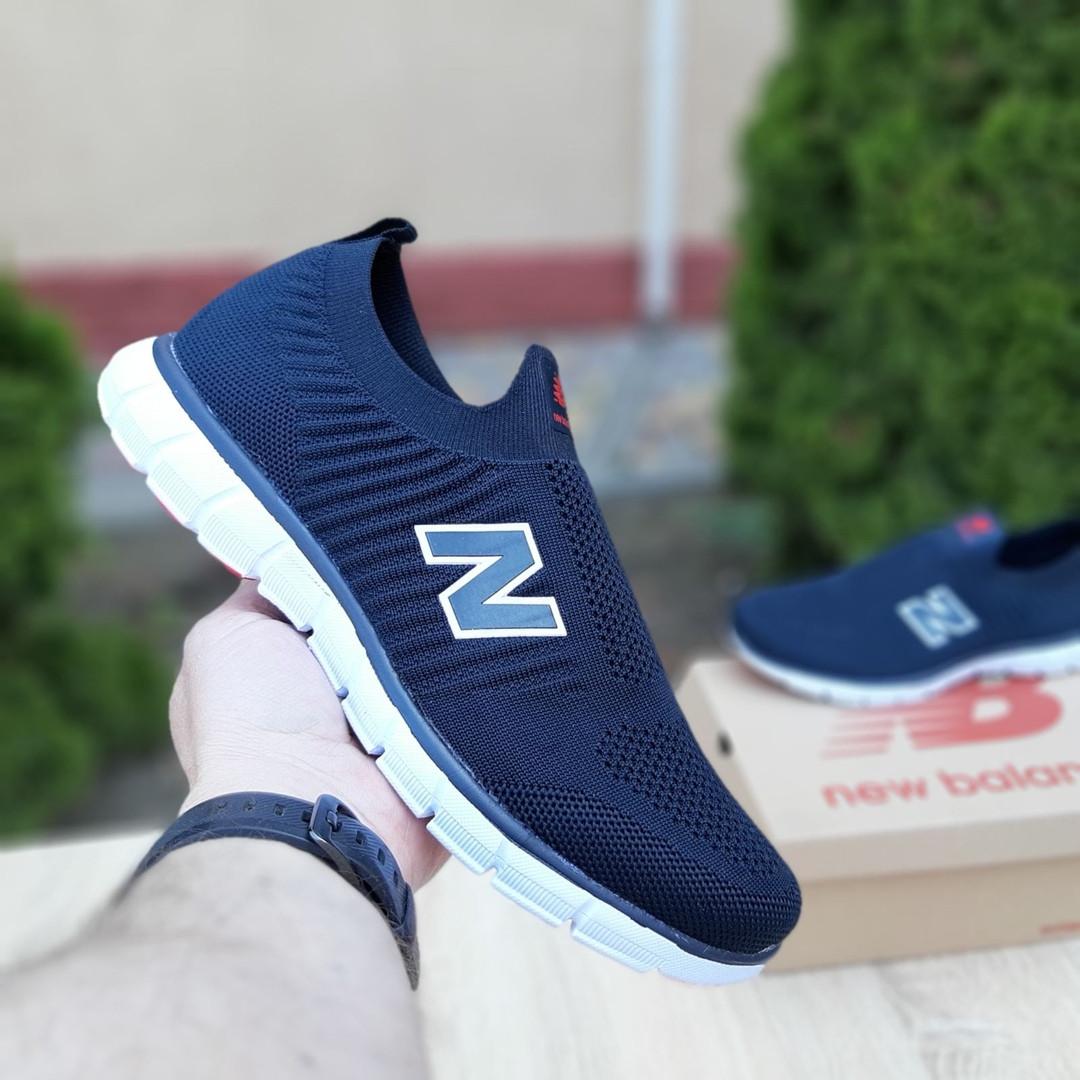 Чоловічі кросівки New Balance (темно-сині з червоним) 10094