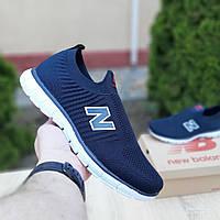 Мужские кроссовки New Balance (темно-синие с красным) 10094