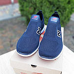 Чоловічі кросівки New Balance (темно-сині з червоним) 10094, фото 4