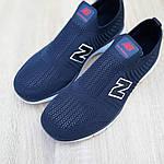 Чоловічі кросівки New Balance (темно-сині з червоним) 10094, фото 7