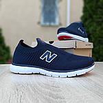 Чоловічі кросівки New Balance (темно-сині з червоним) 10094, фото 6