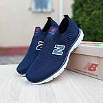 Чоловічі кросівки New Balance (темно-сині з червоним) 10094, фото 9