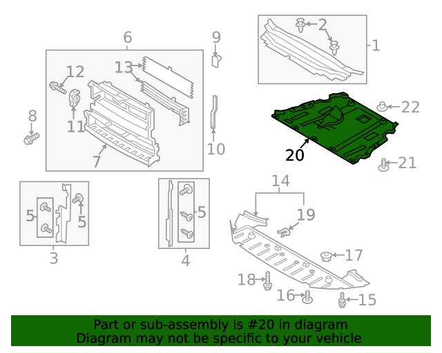 Защита двигателя Ford Fusion 13-19     DG9Z6P013E