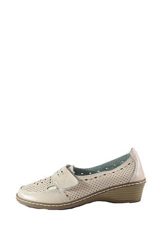 Туфли женские Allshoes 77308 бежевая кожа (36), фото 2