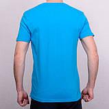 Чоловіча футболка блакитного кольору, фото 2