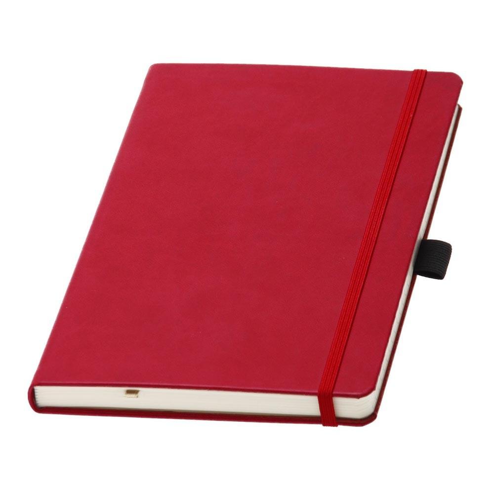 Записная книжка Туксон Ivory Line кремовый блок в линейку, кожзам, красна