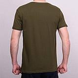 Чоловіча футболка кольору хакі, фото 2