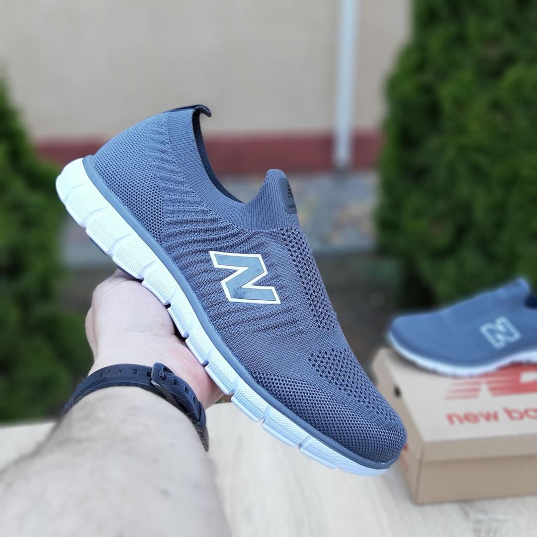 Мужские кроссовки New Balance (серые) 10096