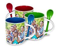 Печать на чашках с ложкой