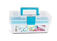 """Ящик для мелочей Tayg Home 12"""" (Испания) пластиковый, универсальный + вкладка 29х17 *12,7см (110597)"""
