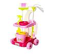Набор для уборки Мамина помощница 667-33-35 тележка на колесах, ведро, щетка, моющие средства Мамина помічниця, фото 4