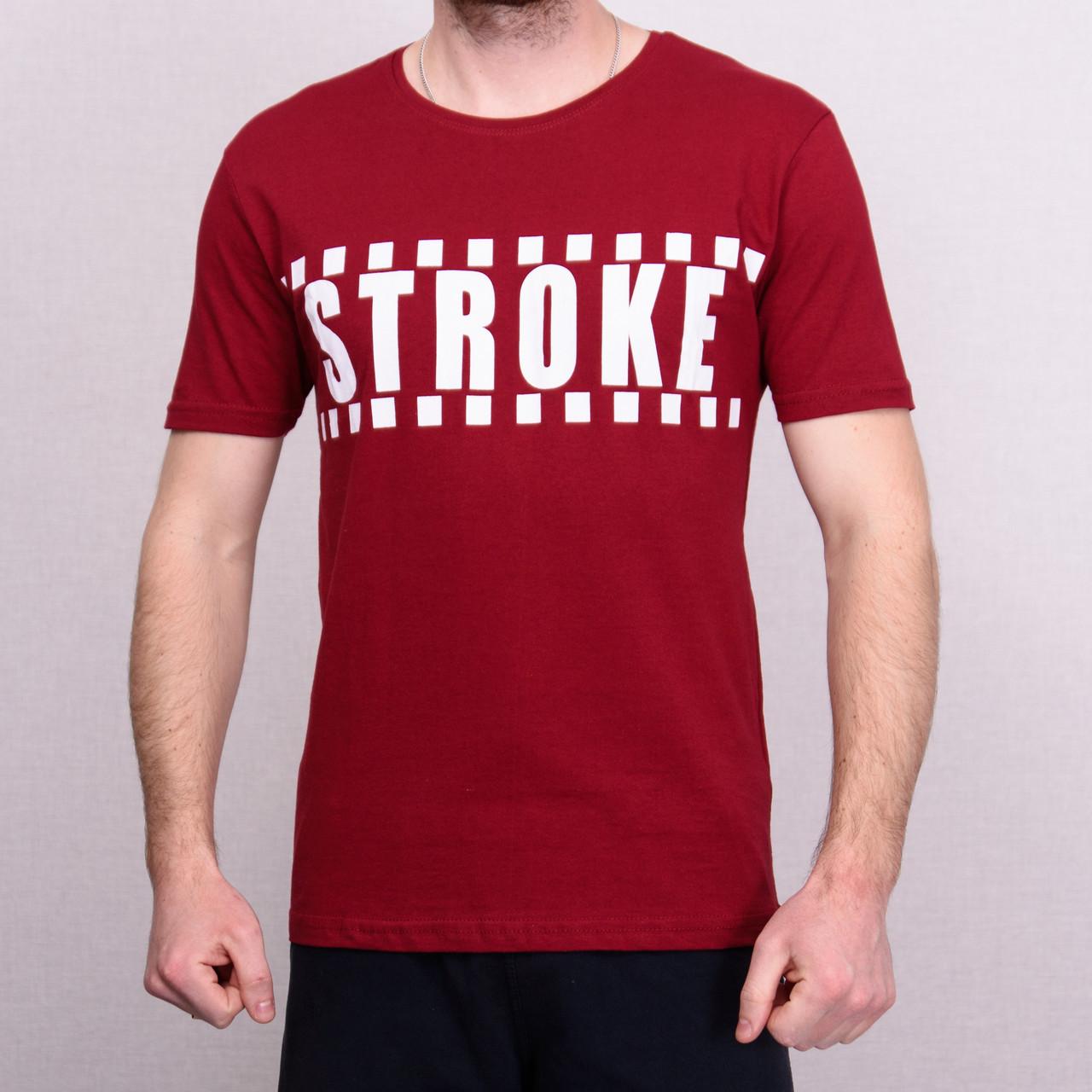 Чоловіча футболка кольору бордо