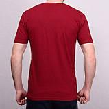 Чоловіча футболка кольору бордо, фото 2