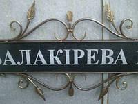 Таблички c названиями улиц, фото 1