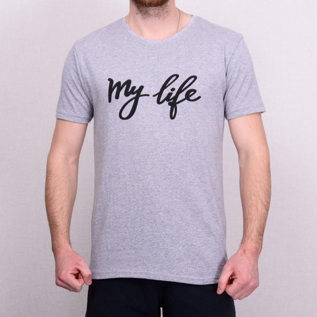 Чоловіча футболка сірого кольору