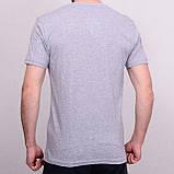 Чоловіча футболка сірого кольору, фото 2