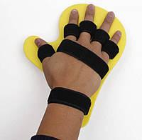 Бандаж фиксатор после инсульта для руки, тренажер выпрямитель пальцев кисти против спастичности