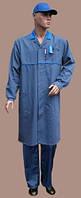 Халат рабочий мужской, рабочая одежда, спецодежда, униформа